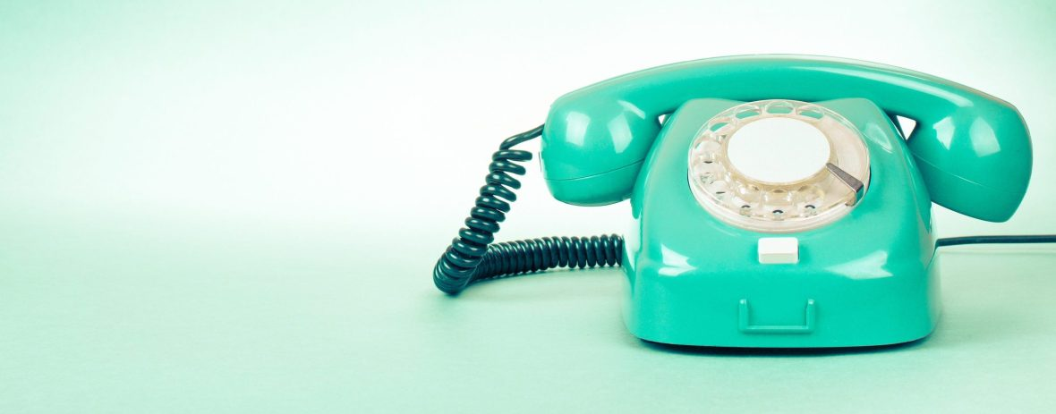 Contact us green telephone